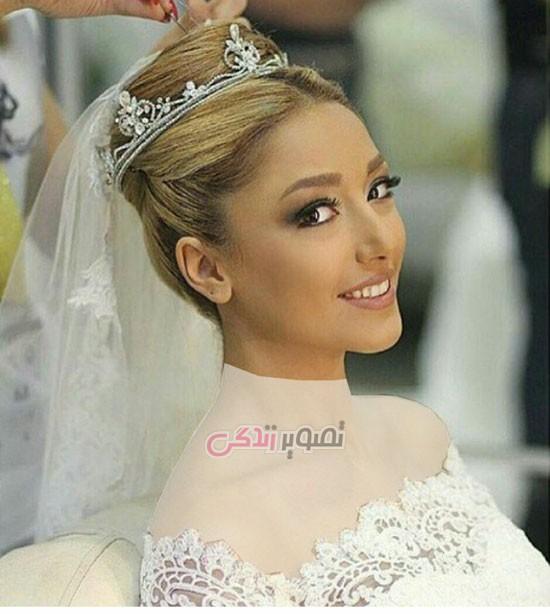 مدل تاج عروس , آرایش چهره عروس , مدل موی عروس