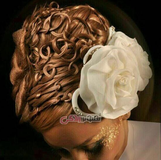 آرایش عروس , آرایش موی عروس , شینیون عروس , میکاپ عروس