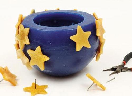 ساخت جاشمعی ستاره , تزیین سفره هفت سین