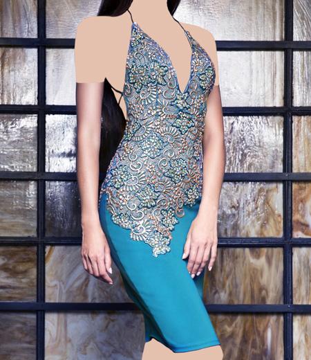 مدل لباس مجلسی دکلته 2016