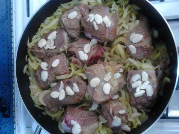 خوراک سبزی پلو با ماهیچه به سبک پسران کریم