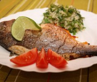 طرز تهیه ماهی شکم پر به سبک لنگرود
