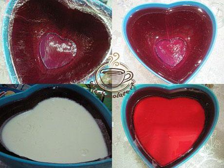 ژله سوپرایز قلبی , ژله ولنتاین , ژله قلبی