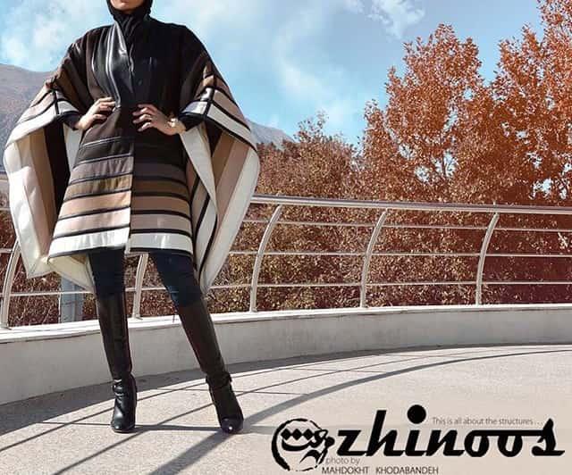 مدل مانتو زمستانی طرح دار چند رنگ برند ژینوس 2016