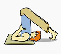 ورزش  , آموزش یوگا / ایستادن روی شانه ها + عکس