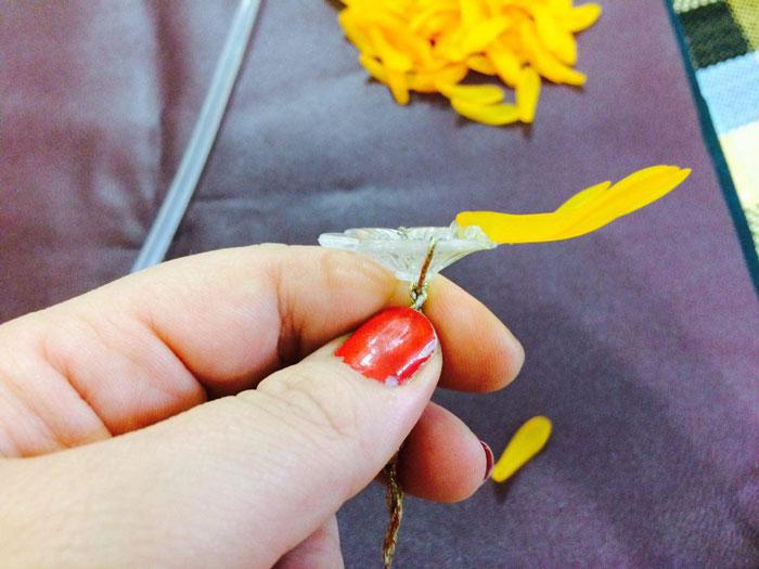 آموزش گل کریستالی , ساخت گل داوودی کریستالی