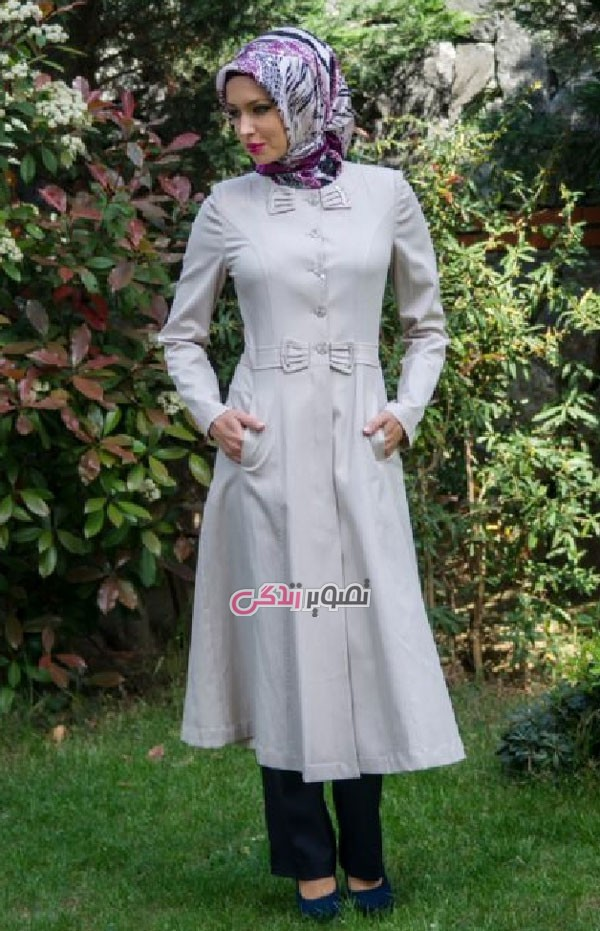مدل مانتو بهاری  , عکس مدل مانتو ترک عید 95 | پوشیده و شیک