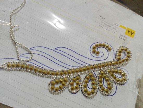 آموزش ساخت زیور آلات  , آموزش تزیین شانه سر با هنر تاج ژله ای