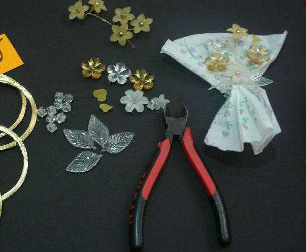گل سینه کریستالی , ساخت مگنت یخچال , گل کریستالی