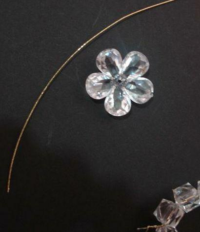 آموزش گل کریستالی , ساخت گل سینه کریستالی