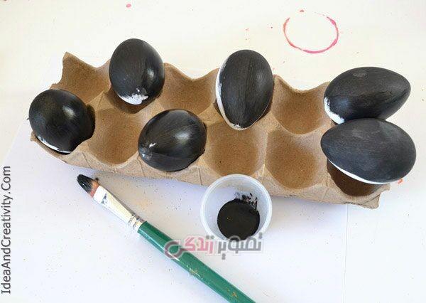 آموزش هنرهای دستی  , تزیین تخم مرغ به شکل کهکشان