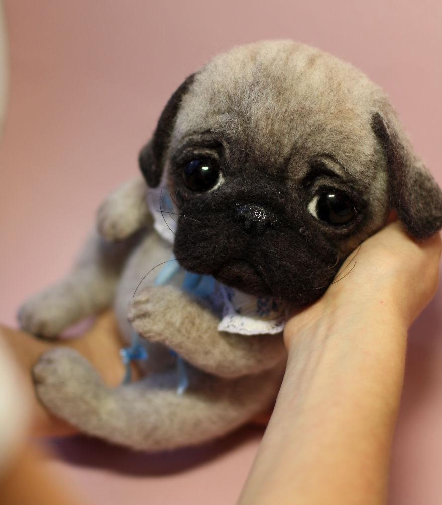 عروسک های نمدی , حیوانات نمدی با پشم طبیعی
