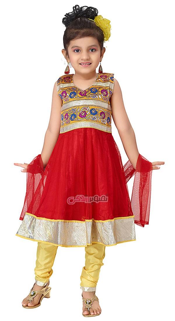 لباس بچگانه  , مدل لباس هندی دخترانه شیک و زیبا