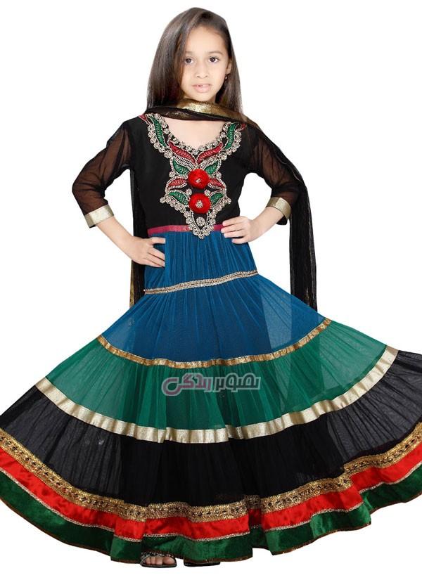 مدل لباس هندی دخترانه , پیراهن هندی بچگانه