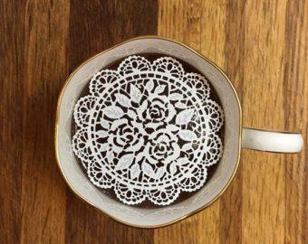 گیپور خوراکی , تزیین شیرینی , تزیین چای