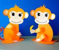 آموزش ساخت میمون کاغذی