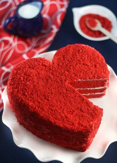 کیک مخملی قرمز , کیک ولنتاین