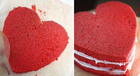 نان، شیرینی، دسر  , طرز تهیه کیک مخملی قرمز ویژه ولنتاین