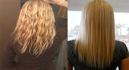 مدل و آرایش مو  , صاف کردن مو های فر با روشی طبیعی