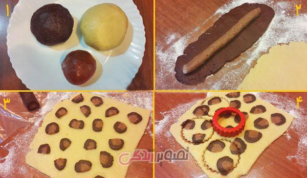 نان، شیرینی، دسر  , طرز تهیه شیرینی زبرا / کوکی زبرا
