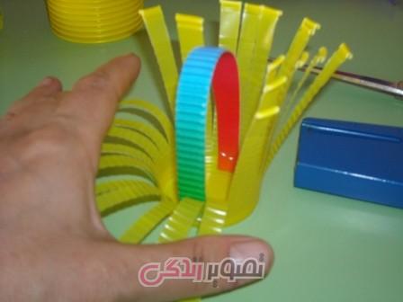 آموزش هنرهای دستی  , ساخت ظروف هفت سین با لیوان یکبار مصرف
