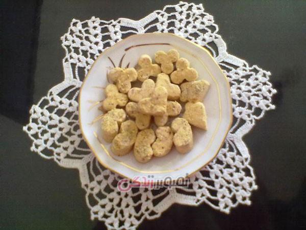 نان، شیرینی، دسر  , طرز تهیه نان نخودچی / شیرینی نایینی برای عید