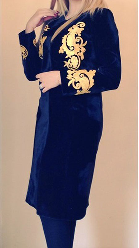 مدل مانتو مجلسی  , عکس مدل مانتو مجلسی مزون دخی | مدل مانتو عید 95
