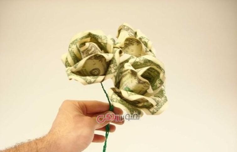 ساخت گل رز با پول , تزیین پول