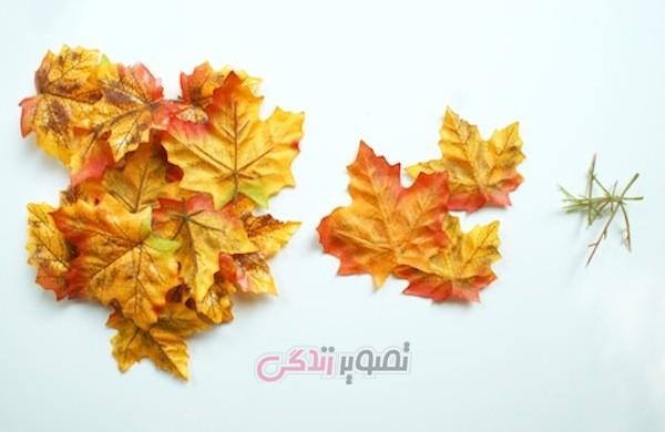 ساخت ظرف هفت سین با برگ پاییزی