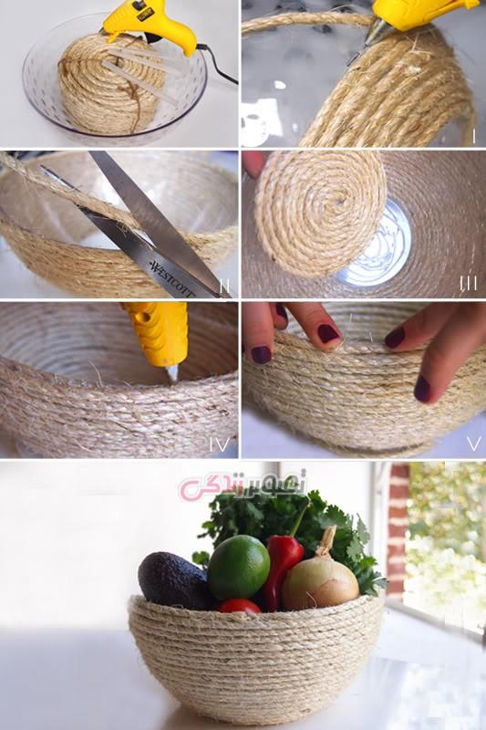 ساخت ظرف بانخ کنفی چند ایده برای ساخت ظروف هفت سین • مجله تصویر زندگی