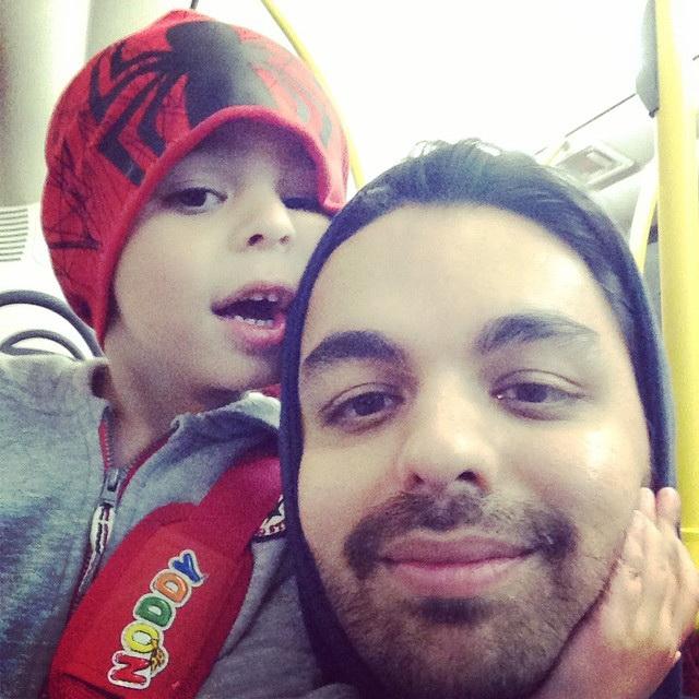 بابک سعیدی و پسرش