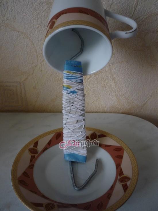 ساخت فنجان معلق , تزیین سفره هفت سین