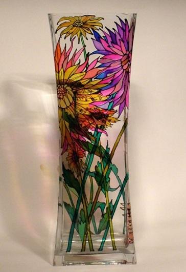 هنر ویترای , نقاشی روی شیشه