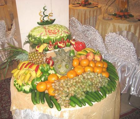 سفره آرایی  , تزیین میوه عید / تزئین میوه مهمانی ها