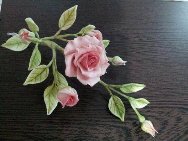 گلسازی با خمیر , گل رز مینیاتوری