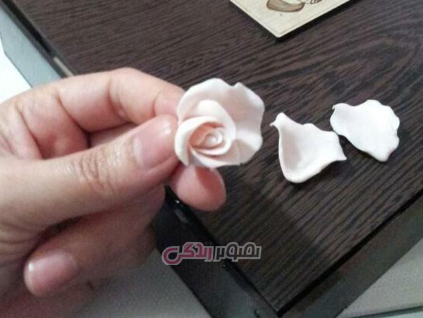 ساخت گل رز خمیری , ساخت گل رز مینیاتوری