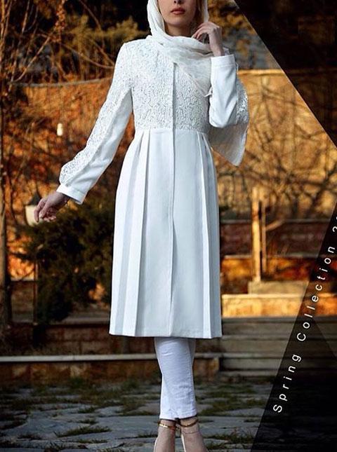مدل مانتو مجلسی سفید