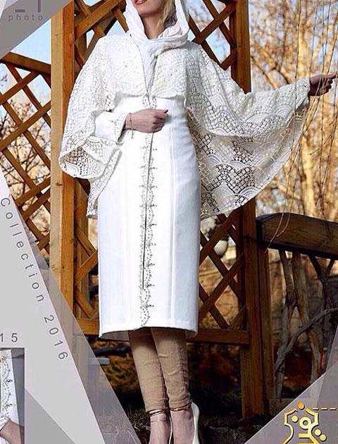 مدل مانتو سفید مجلسی