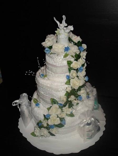 آموزش هنرهای دستی  , مدل های جدید تزیین حوله عروس و داماد
