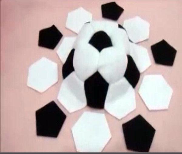 آموزش دوخت توپ فوتبال نمدی