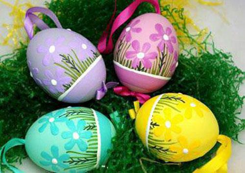 رنگ کردن تخم مرغ , تزیین تخم مرغ