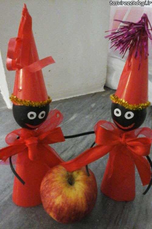 آموزش عروسک سازی  , آموزش ساخت عروسک حاجی فیروز