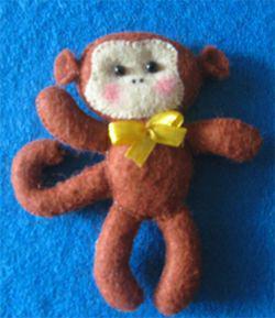 آموزش دوخت میمون نمدی