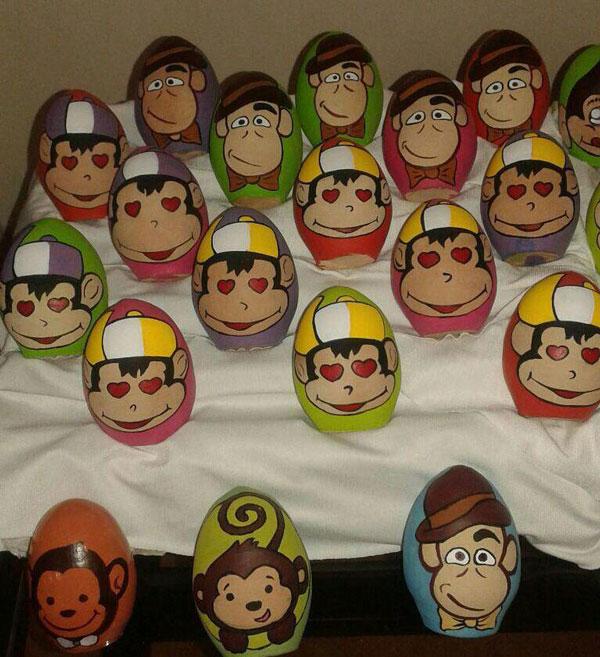 سال میمون , رنگ کردن تخم مرغ