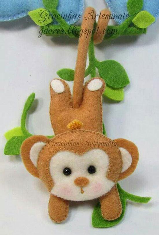 سال میمون , عروسک میمون نمدی
