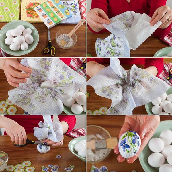 تزیین تخم مرغ , دکوپاژ تخم مرغ