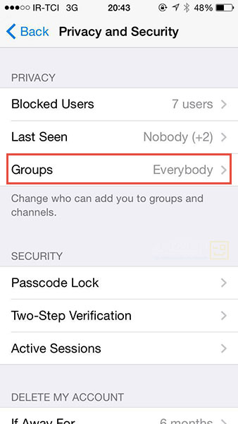 موبایل ، لپ تاپ و تبلت  , جلوگیری از دریافت پیامهای تبلیغاتی در تلگرام
