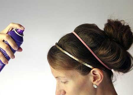مدل و آرایش مو  , ترفندهای استفاده از اسپری مو