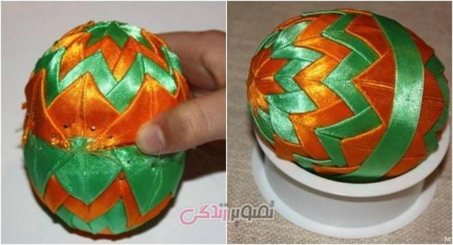 تزیین تخم مرغ با روبان