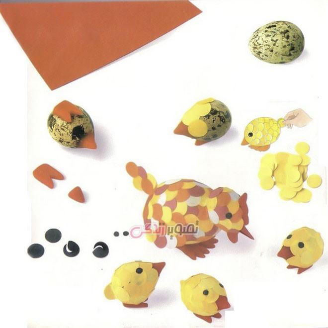تزیین تخم مرغ برای بچه ها